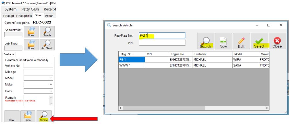 select vehicle
