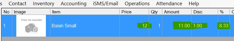select item