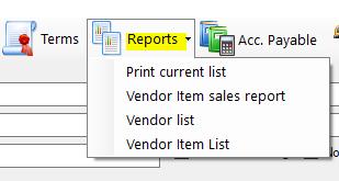 vendor reports 1