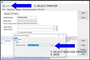 barcode printer pos system
